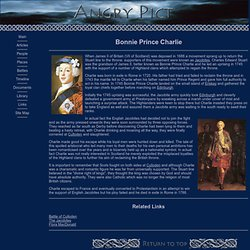 Bonnie Prince Charlie leader of the 1745 Jacobite uprising