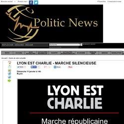 Lyon est CHARLIE - Marche silencieuse