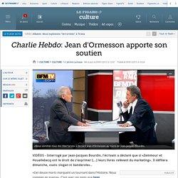 Charlie Hebdo: Jean d'Ormesson apporte son soutien