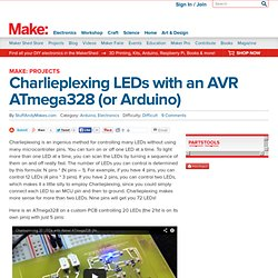 Charlieplexing LEDs with an AVR ATmega328 (or Arduino)