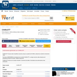 Société CHARLOTT' à CHAPONOST (Chiffre d'affaires, bilans, résultat) avec Verif.com - Siren 399368307