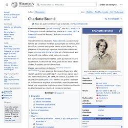 Charlotte Brontë - Wikipedia