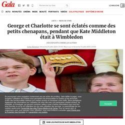 George et Charlotte se sont éclatés comme des petits chenapans, pendant que Kate Middleton était à Wimbledon