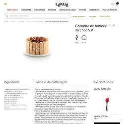 Charlotte de mousse de chocolat - Recettes moules à patisserie - Par produit - Recettes