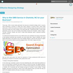 Why to Hire SMO Service in Charlotte, NC for your Business?