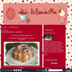 Charlotte aux fraises - tupperware - La cuisine des minis