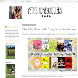 Charlotte Mason: liste française de living books