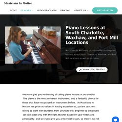 Piano Lesson South Charlotte Waxhaw