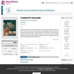 Charlotte Guillard - Presses universitaires François-Rabelais