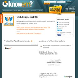 Web Design Charlotte is Webdesigncharlotte on KnowEm