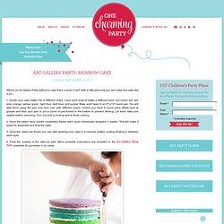 art gallery party: rainbow cake