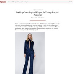 Looking Charming And Elegant In Vintage Inspired Jumpsuit