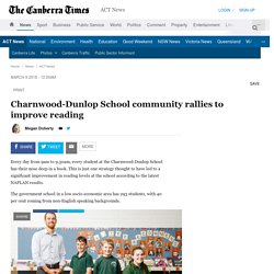 Charnwood-Dunlop School community rallies to improve reading