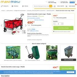 Chariot charrette à main rouge - Pliable - 4250525312843 - Jardin piscine