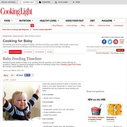Baby Food Chart: Baby Feeding Timeline