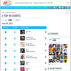 Top 40 Chart for the week of June 04, 2011 - American Top 40 With Ryan Seacrest