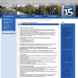 Charte d'accueil de la Mairie du 15e