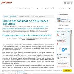 Charte des candidat.e.s de la France insoumise