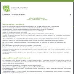 Charte de l'action culturelle