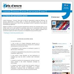 La Charte des jeunes journalistes par l'Association Jet d'encre
