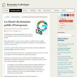 La Charte du domaine public d'Europeana