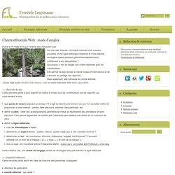 Charte éditoriale Web