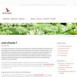 charte d'entreprise - Ordinata