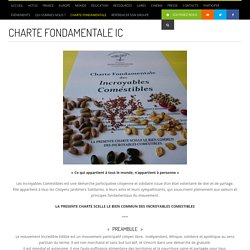 Charte Fondamentale IC - Les Incroyables Comestibles - Les Incroyables Comestibles