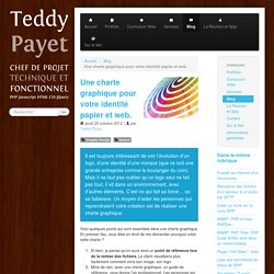 Une charte graphique pour votre identité papier et web. - Teddy Payet