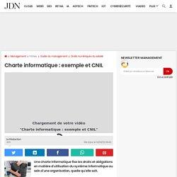 Charte informatique: RGPD, Cnil...