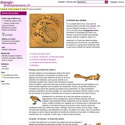 Charte des jardins