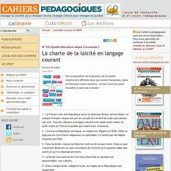 La charte de la laïcité en langage courant
