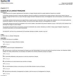 Charte de la langue française