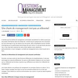 Une charte de management n'est pas un référentiel