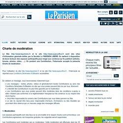Charte de modération – leParisien.fr