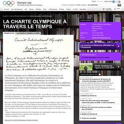 La Charte olympique à travers le temps