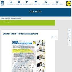 » Charte Santé Sécurité Environnement