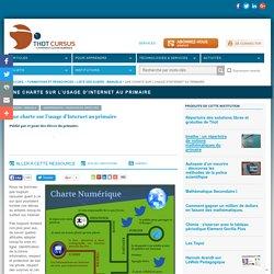 Une charte sur l'usage d'Internet au primaire