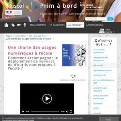 Une charte des usages numériques à l'école