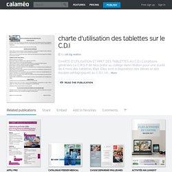 Calaméo - charte d'utilisation des tablettes sur le C.D.I