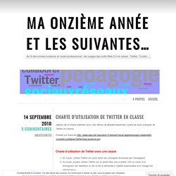 Charte d'utilisation de Twitter en classe