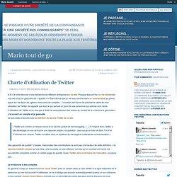 Charte d'utilisation de Twitter