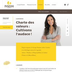 Groupe Panzani Charte des valeurs
