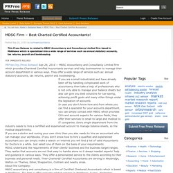 MDSC Firm – Best Charted Certified Accountants!