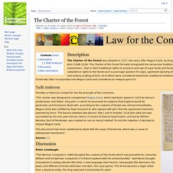 The Charter of the Forest - Commons Transition Wiki