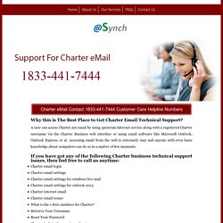 Charter eMail Customer Support 1833-441-7444 Number