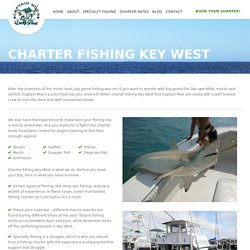 Charter Fishing Key West - Captain Moe's Lucky Fleet