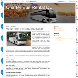 The Top 5 Factors to Know about a Tour Bus in DC
