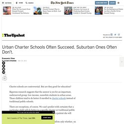 Urban Charter Schools Often Succeed. Suburban Ones Often Don't.