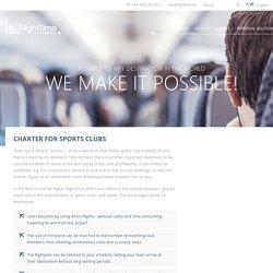 Charter Flights for Sports Club - FlightTime